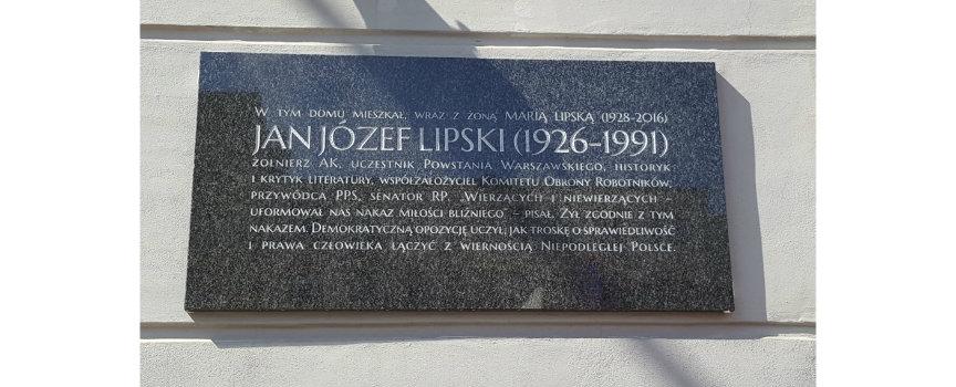 Odsłonięcie tablicy Jana Józefa Lipskiego