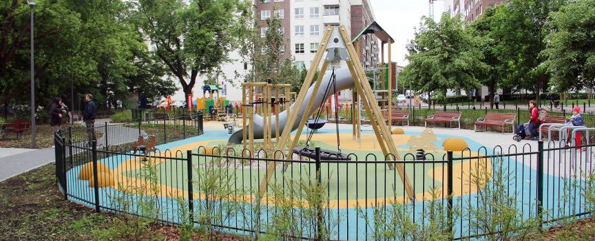 Remont placu zabaw przy ul. Inflanckiej