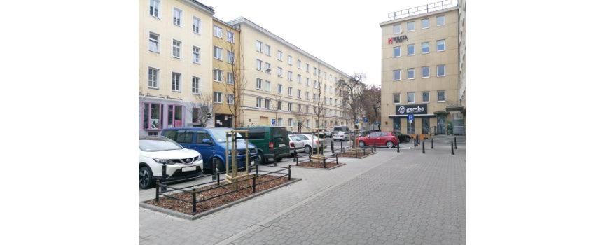 Nowe duże drzewa przy Wilczej/Poznańskiej oraz podlewanie drzew